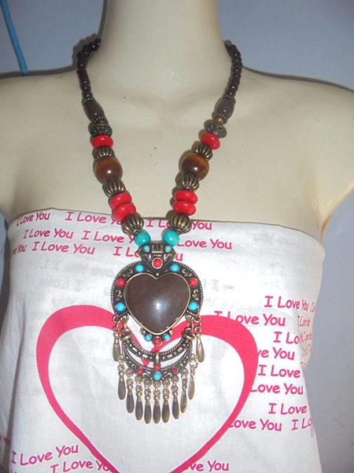 Wholesale Tribal Necklace With Ear Ring