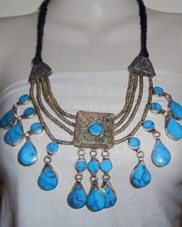 Turqouise Tribal Necklace