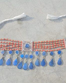 Chokar Lapiz With Coral Beads