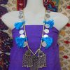 Tribal 3 Pendant Turquoise Cord Necklace