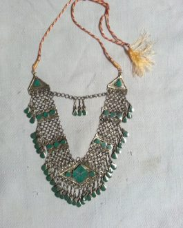Malachite Stone Necklace With Adjustable Cord