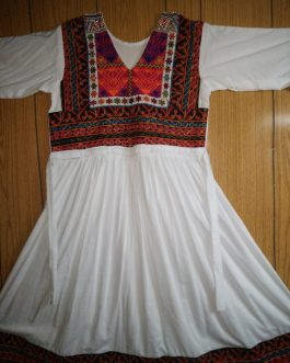 Wholesale Tribal Dress Afghan Embroidery with Center Border