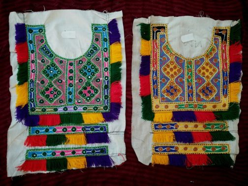 Tribal Cultural Square Neckline with Cuff Border