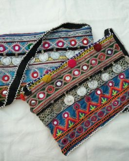 Tribal Hand Made Bag With Coins