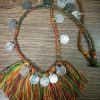 Multi Color Thread & Coins Necklace