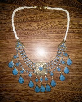 Turquoise Stone & Beads Necklace