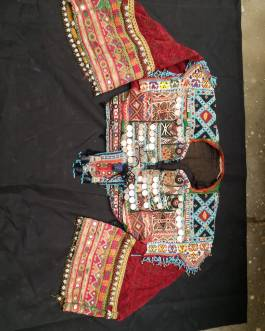 Old Handmade Afghani Neckline Gala With Sleeves