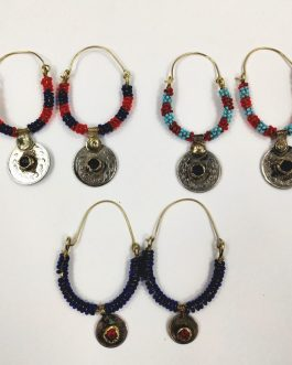 Beaded & Coin Ear Ring