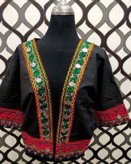 Afghani Embroidered Short Arm Jacket