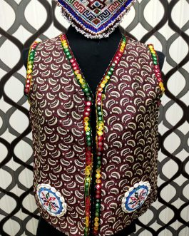 Jacquard Fabric & Medallion Vest