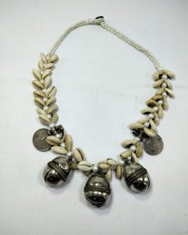 Shell, Bells & White Pearl Necklace