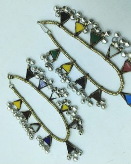Multi Crystals And Bells Anklet