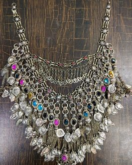 Vintage Tribal Afghan Big Choker