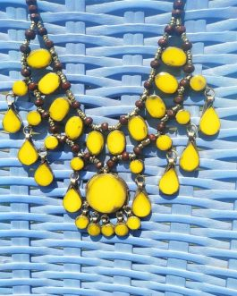 Synthetic Yellow Stone Necklace