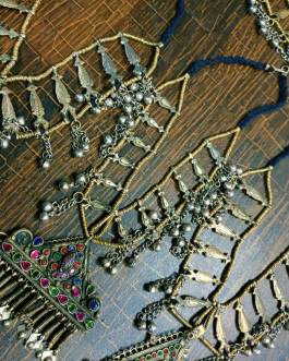 Metal Fish and Bells Afghan Necklace