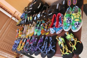 The beautifully recycled shoes