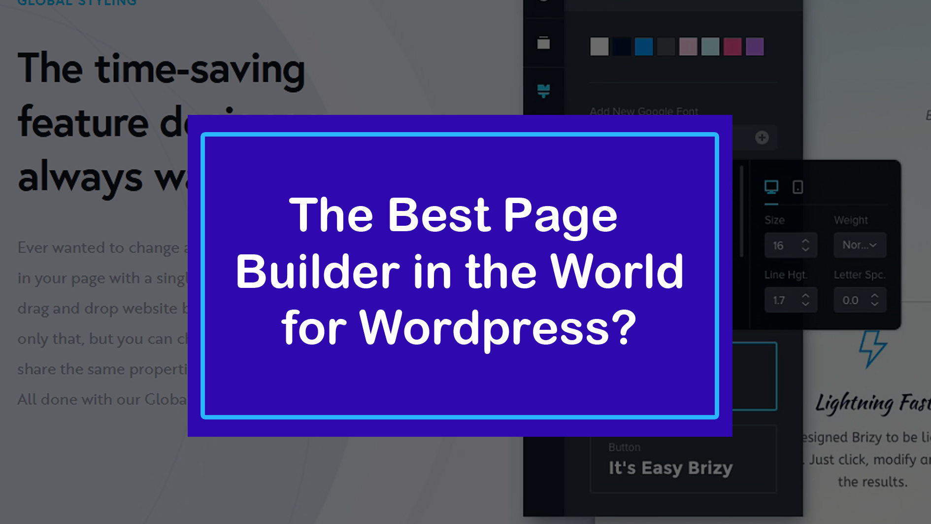 The Best Page builder for wordpress