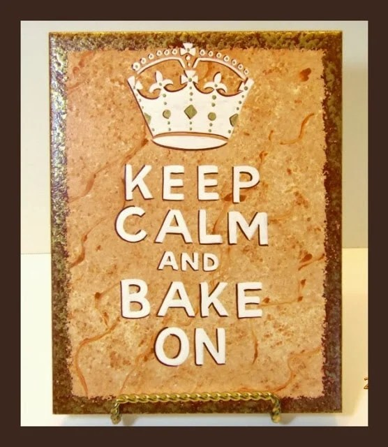 Keep Calm Painted Ceramic Tile