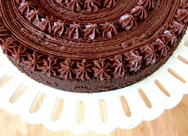 Chocolate Velvet Cake With Chocolate Butter Cream Frosting Recipe