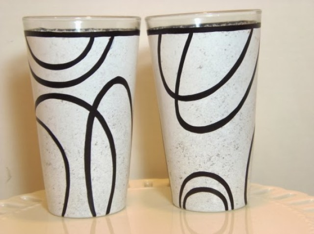 hand painted drinking glasses