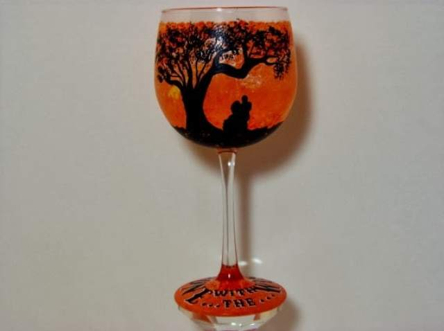 gone with the wind wine glass