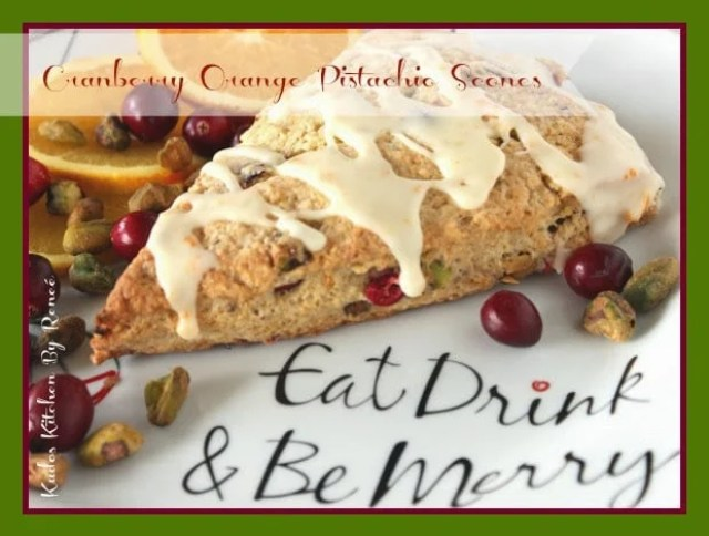 Cranberry Orange Pistachio Scone Recipe