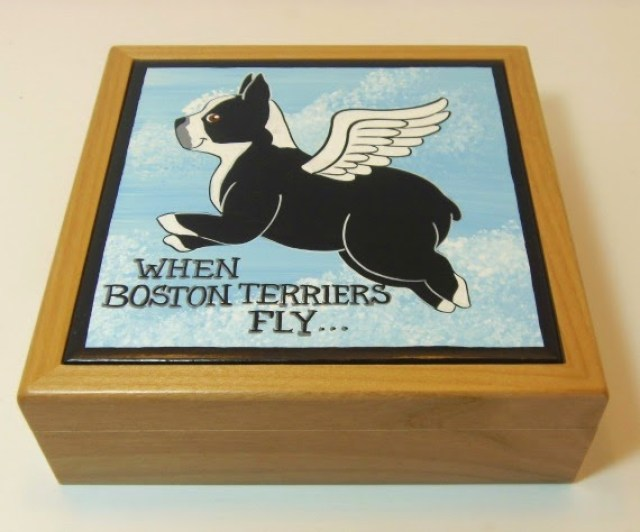 Boston Terrier jewelry box