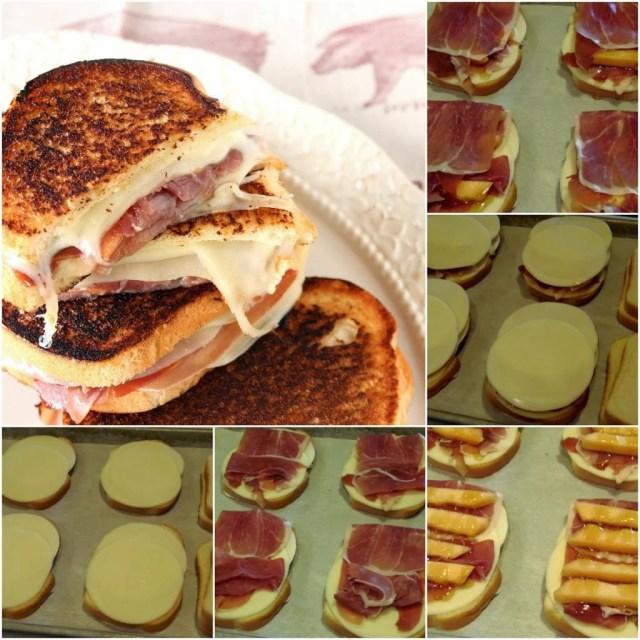 Prosciutto, Melon & Provolone Grilled Cheese Sandwiches - kudoskitchenbyrenee.com