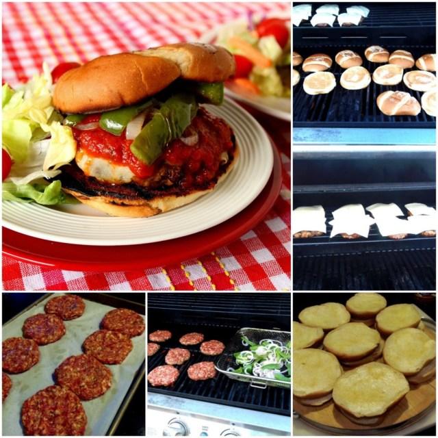 Italian Sausage Pizza Burgers Kudos Kitchen Style - kudoskitchenbyrenee.com