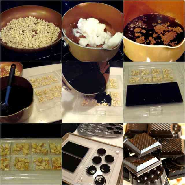 Delicious Dark Chocolate with Almond Candy Recipe via Kudos Kitchen by Renee