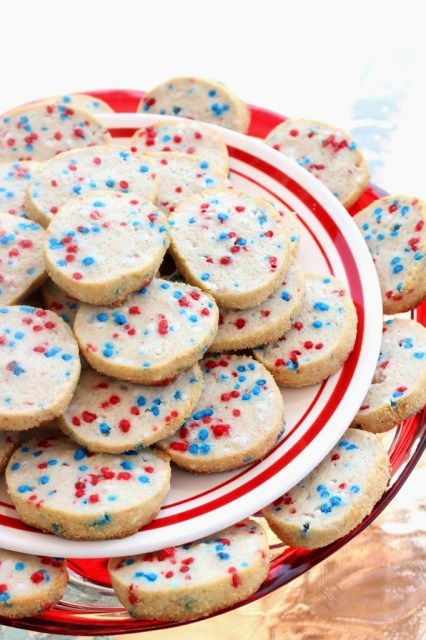 Patriotic Cream Cheese Cookies via Kudos Kitchen by Renee