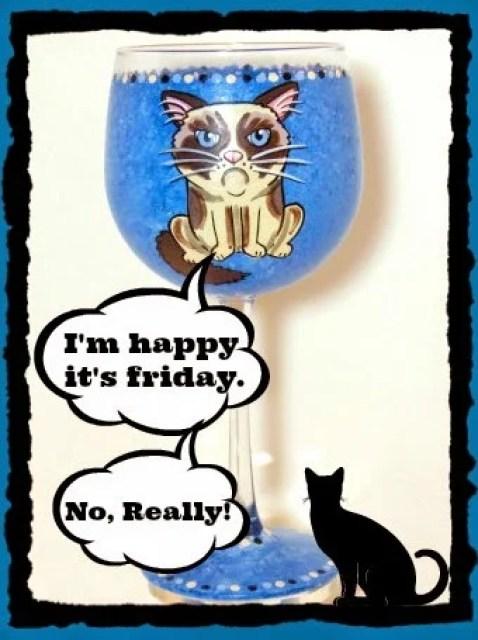 Grumpy Cat Painted Wine Glass via kudoskitchenbyrenee.com