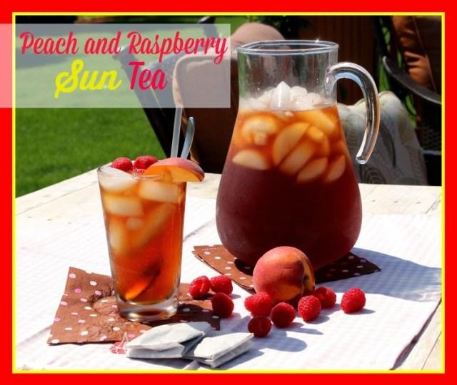 Peach and Raspberry Sun Tea - kudoskitchenbyrenee.com