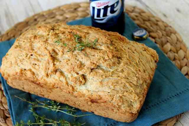 Thyme for Beer Bread Recipe via kudoskitchenbyrenee.com