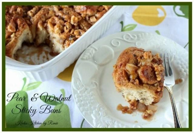 Pear and Walnut Sticky Buns Recipe