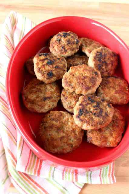 Homemade Turkey Breakfast Sausages are easy to make and are flavored with fennel, sage and smoked paprika