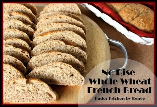 No-Rise Whole Wheat French Bread / www.kudoskitchenbyrenee.com
