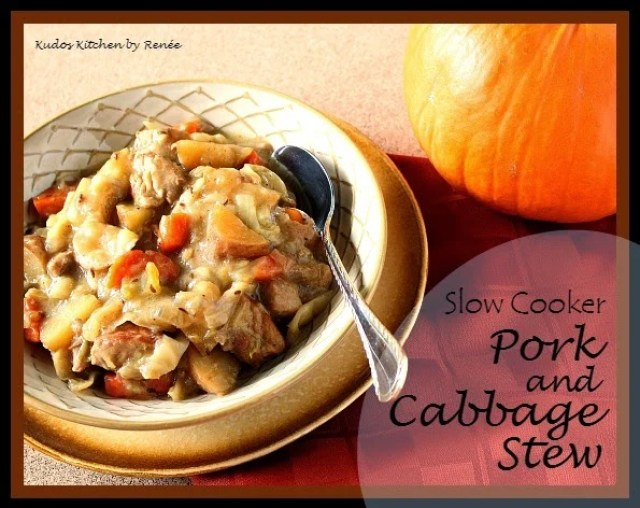 Slow Cooker Pork and Cabbage Stew for #SundaySupper
