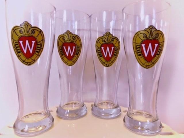 U of W painted beer pilsners - www.kudoskitchenbyrenee.wazala.com