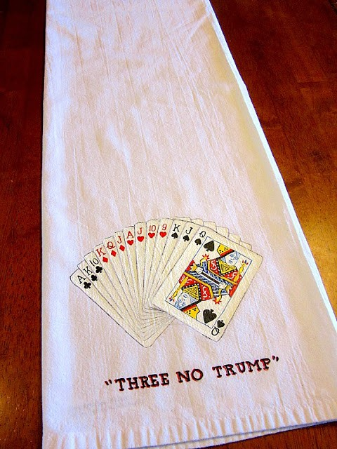 Bridge Players Tea Towel