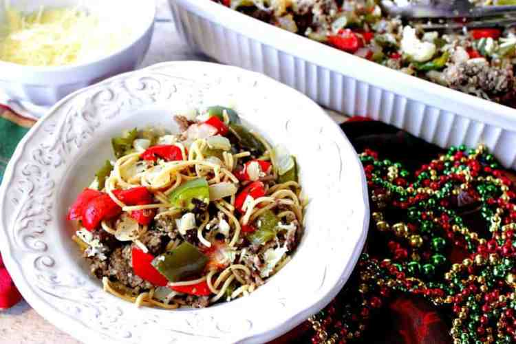 Christmas Pasta with Red & Green Bell Peppers | Kudos Kitchen by Renee