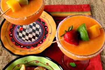 Frozen Mango Strawberry Margaritas Recipe