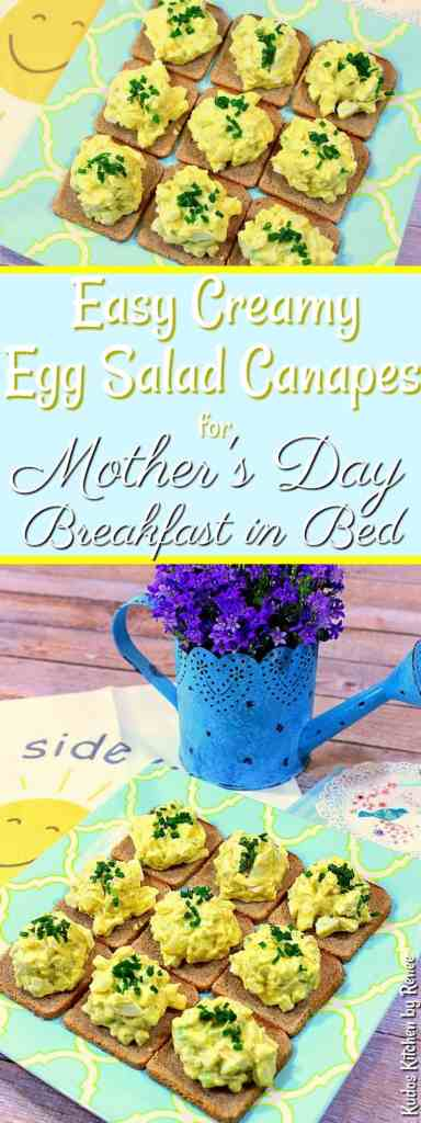 Easy Creamy Egg Salad Canapes for Mother's Day Breakfast in Bed - Kudos Kitchen by Renee