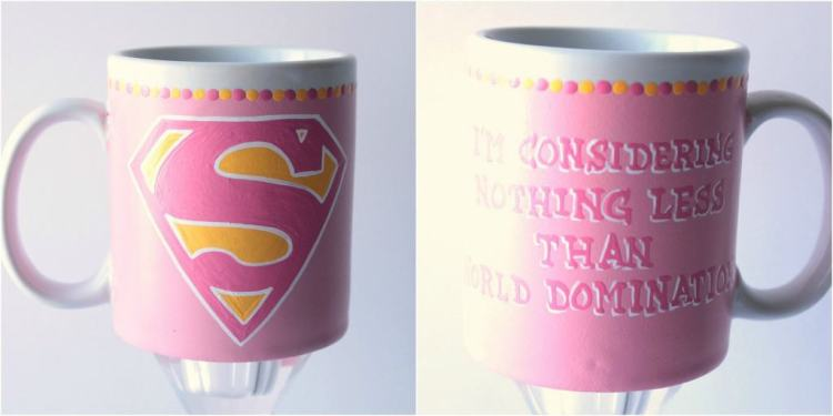 Super Girl Mug www.etsy.com/shop/kudoskitchenpaints
