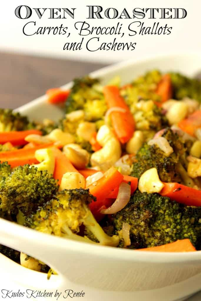 Oven Roasted Vegetables with Shallots and Cashews