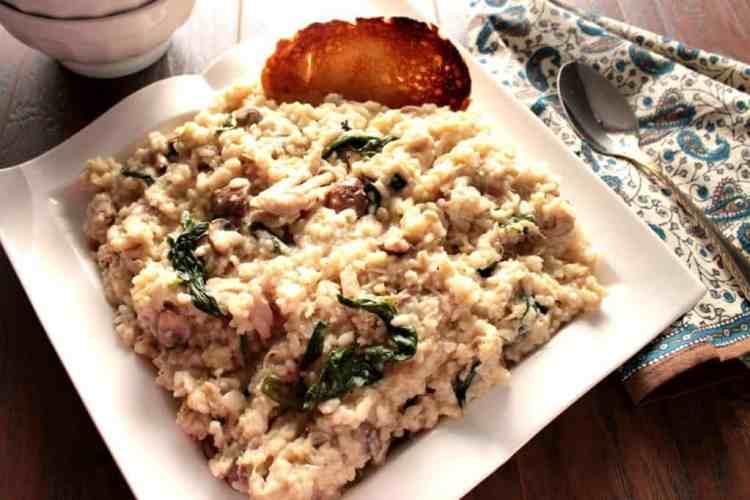 Creamy Mascarpone Chicken Risotto