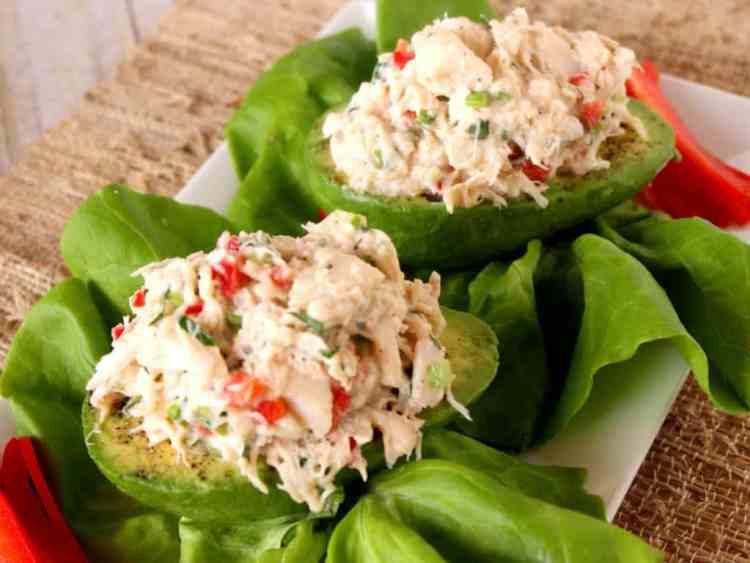 Avocados Stiffed with Crab Salad