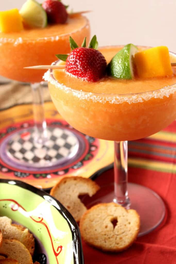 Frozen Mango Strawberry Margarita