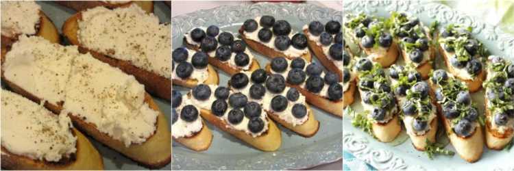 Blueberry Basil Bruschetta Recipe