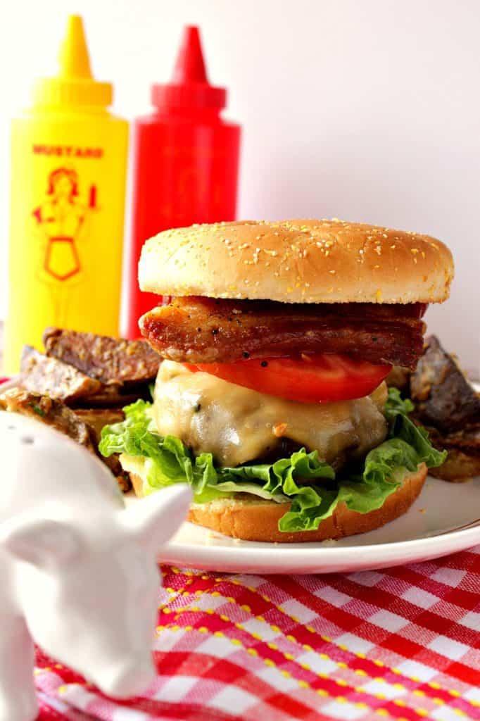 Grilled Pork Belly Burger